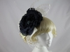 Failsworth Millinery Navy and Ivory Flower Headpiece